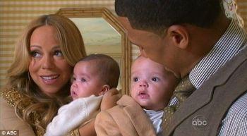 Mariah dan Nick bersama kembar mereka ketika muncul dalam program 20/20 bersama Barbara Walters. - Foto Ihsan ww.abc.com