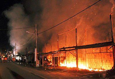 Beginilah keadaan kebakaran yang berlaku.