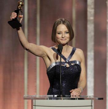 Jodie Foster ketika hadir pada majlis Anugerah Golden Globe ke 70.