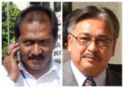 KONTROVERSI ADUN Behrang, Jamaluddin Mohd. Radzi (kiri) dan ADUN Changkat Jering, Kapt (B) Mohd Osman Jailu terus menjadi fokus arena politik tempatan sejak lebih seminggu lalu.