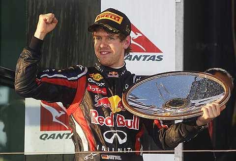 Vettel memenangi saingan pembukaan F1 di Litar Albert Park, Melbourne pada Ahad.