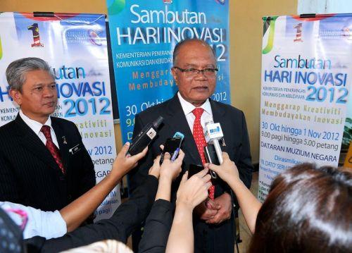 Ketua Setiausaha Kementerian Penerangan Komunikasi dan Kebudayaan (KPKK), Datuk Kamaruddin Siaraf ketika ditemui pada sidang media selepas Majlis Perasmian Konvensyen Inovatif dan Kreatif di Muzium Negara di sini, Selasa. - Foto oleh BERNAMA