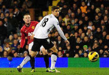Rooney menjaringkan gol tunggal United pada minit ke-79.