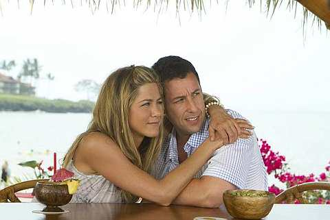 Keserasian Jennifer Aniston (sebagai Katherine) dan Adam Sandler (Danny) cukup memikat.