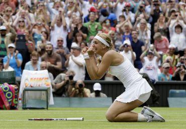 Lisicki merai kemenangan selepas menewaskan Serena pada aksi keempat Kejohanan Wimbledon, awal pagi Selasa.