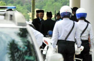 Perdana Menteri, Datuk Seri Najib Tun Razak kelihatan keluar dari Istana Pasir Pelangi selepas menghadap Sultan Johor Sultan Ibrahim Sultan Iskandar. Foto BERNAMA