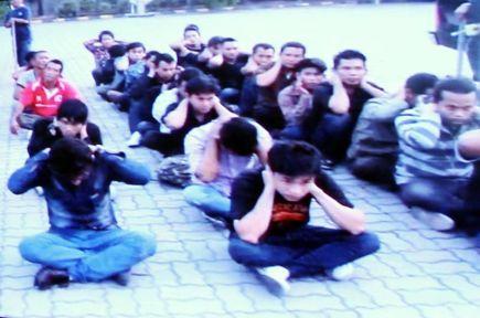 Antara Pati yang ditahan di bawah Akta Anti Pemerdagangan Manusia 2007 di muara Sungai Langat, Sepang pada Ahad lalu.