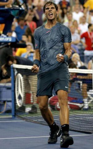 Nadal teruja selepas memenangi pusingan keempat  Tenis Terbuka AS, Selasa.