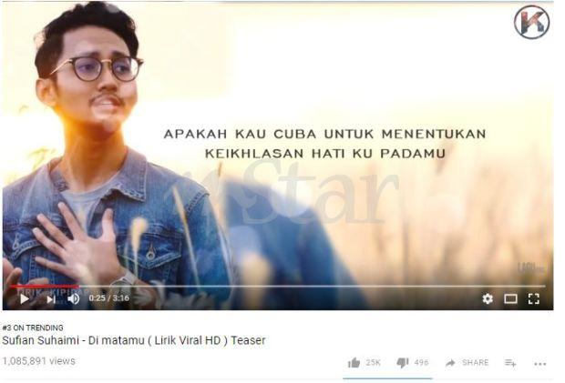 Kesan Putus Tunang Lebih 1 Juta Tonton Video Lagu Sufian Suhaimi Hiburan Mstar