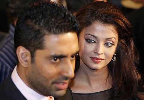 Bintang Bollywood, Abhishek Bachchan (kiri) dan Aiswarya Rai Bachchan.
