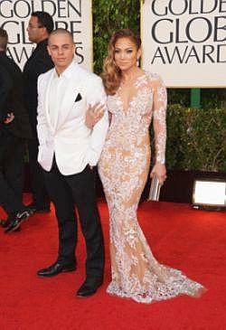 Casper dan JLo tampil mesra ketika menghadiri Anugerah Golden Globe baru-baru ini.