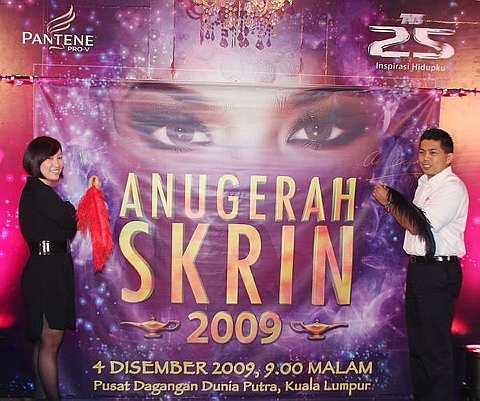 Datuk Seri Farid Ridzuan ketika menghadiri sidang media Anugerah Skrin 2009 di Bandar Sunway, Selasa lalu. -Foto THE STAR oleh RICKY LAI