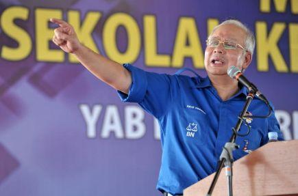 Perdana Menteri Datuk Seri Najib Tun Razak ketika berucap pada majlis perasmian Sekolah Kebangsaan Taman Awana Langgar di Alor Setar pada Selasa. -foto BERNAMA