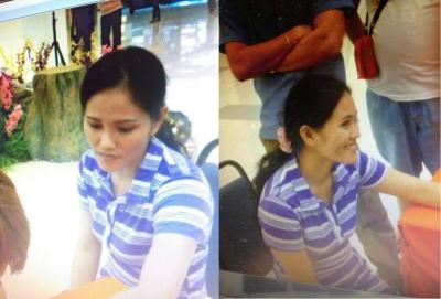 Gambar Norena Lamuddin, 27, dari Filipina, dipercayai teman wanita pengawal keselamatan yang disyaki merompak kedai emas di pusat beli-belah KL Festival City, Setapak, 31 Oktober lepas.