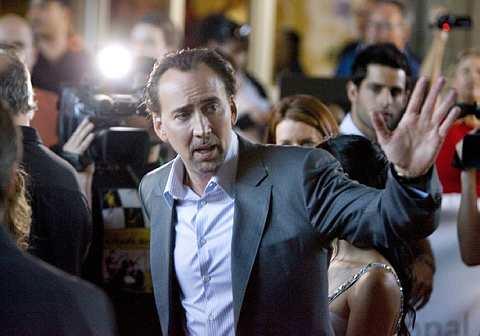Nicholas Cage tiba di tayangan perdana filem berjudul