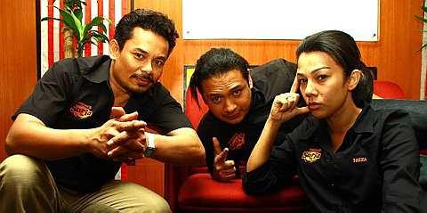 Dari kiri: Halim, Zizi dan Shiera