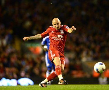 Jonjo Shelvey menjaringkan gol keempat buat Liverpool pada aksi Liga Perdana Inggeris menentang Chelsea, awal pagi Rabu.