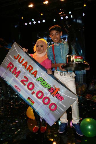 Pasangan Hairul dan Leen merangkul tempat pertama pada pertandingan akhir Ceria Popstar.