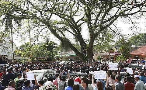 LOKASI sidang tergempar Dewan Undangan Negeri Perak diadakan pada Selasa lalu.
